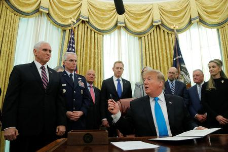 Trump directs Pentagon to draft Space Force proposal