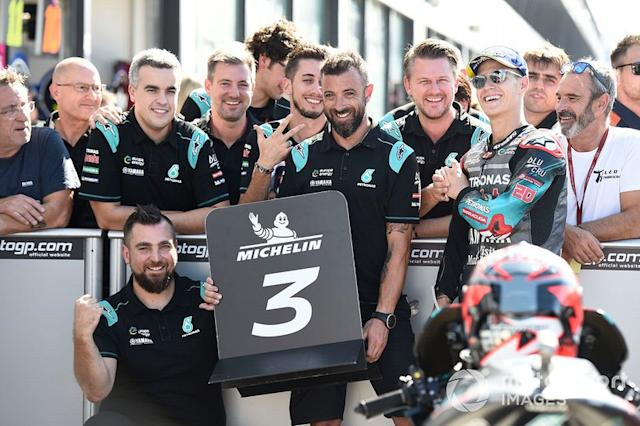 "Tercero Fabio Quartararo, Petronas Yamaha SRT <span class=""copyright"">Gold and Goose / Motorsport Images</span>"