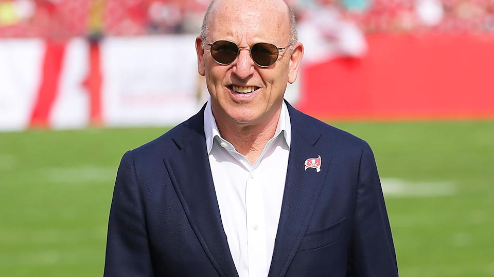Joel Glazer, pictured here at a Tampa Bay Buccaneers game against the Atlanta Falcons.