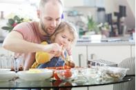 """<p>Sharing a meal with your kids is great, but you can also combine culinary forces and solve the mystery of what superheroes eat for dinner. Dr. Trumbell even encourages letting the child choose the <a href=""""https://www.redbookmag.com/quick-easy-recipes/"""" rel=""""nofollow noopener"""" target=""""_blank"""" data-ylk=""""slk:recipe"""" class=""""link rapid-noclick-resp"""">recipe</a>, which will make them feel even more involved.</p>"""