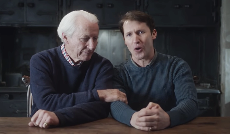 James Blunt with his father, Charles Blount. (Photo: Atlantic Records)