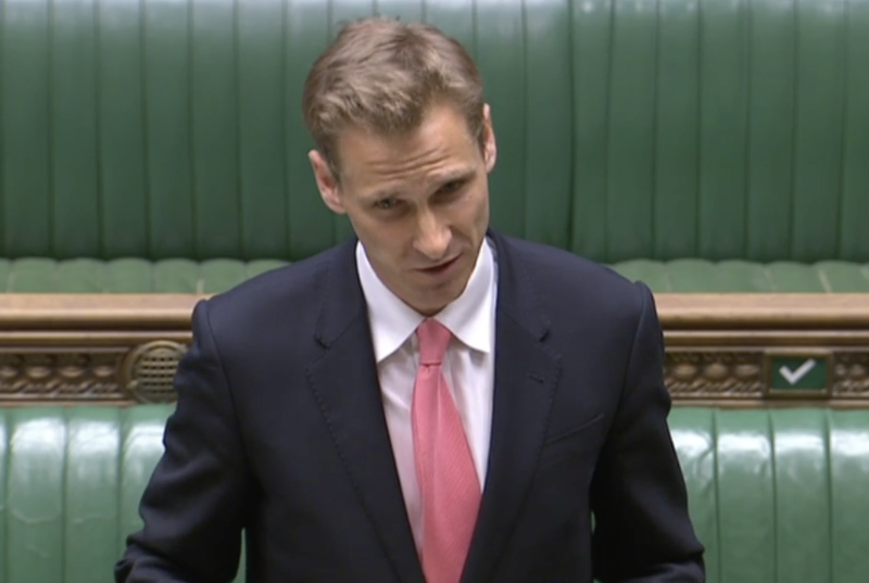 Chris Philp addresses MPs on Wednesday. (Parliamentlive.tv)
