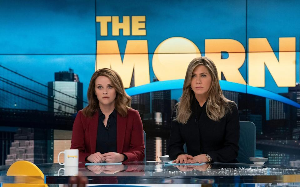 With Jennifer Aniston on The Morning Show