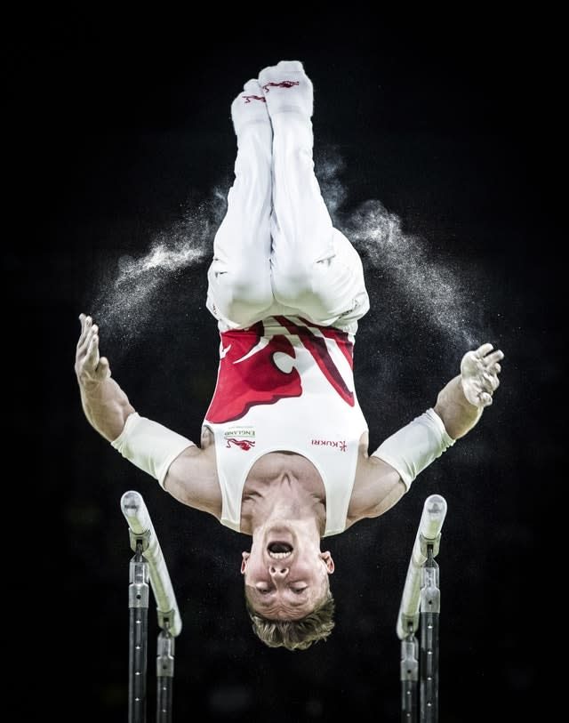 Nile Wilson competes in the parallel bars in which he won one of five medals at April's Commonwealth Games on Australia's Gold Coast. Wilson took silver on the apparatus and the rings, plus gold medals in the all-around, horizontal bar and the men's team gold, to show British men's gymnastics is not all about Max Whitlock (Danny Lawson/PA)