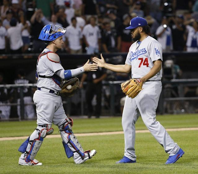 "<a class=""link rapid-noclick-resp"" href=""/mlb/players/8758/"" data-ylk=""slk:Kenley Jansen"">Kenley Jansen</a> is on automatic for the Dodgers and fantasy owners, but not every bullpen is as stable. (AP Photo/Charles Rex Arbogast)"