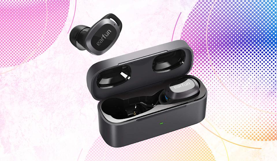 No, they're not free (how great would THAT be), but the EarFun Free Pro true-wireless earbuds feel like a steal at $43. (Photo: Amazon)