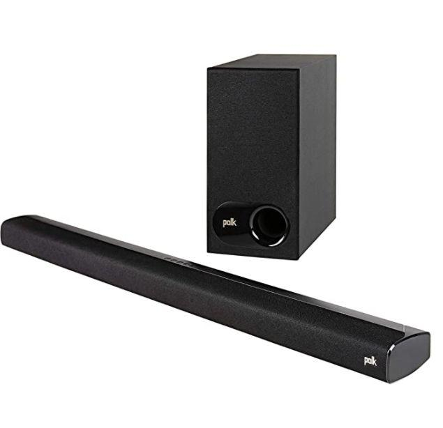 "Get this <a href=""https://amzn.to/350iS9I"" target=""_blank"" rel=""noopener noreferrer"">Polk Audio Signa S2 Ultra-Slim TV Sound Bar on sale for $230</a> (normally $149) at Amazon."