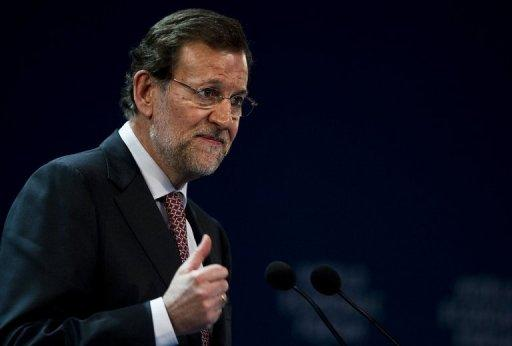 Spain posted a public deficit of 8.51 percent of gross domestic product in 2011, missing its 6.0-percent target by a wide margin. Prime Minister Mariano Rajoy's (pictured on April 17) conservative government has promised to cut the deficit -- the shortfall of revenue to spending -- to 5.3 percent of GDP in 2012 and 3.0 percent of GDP in 2013