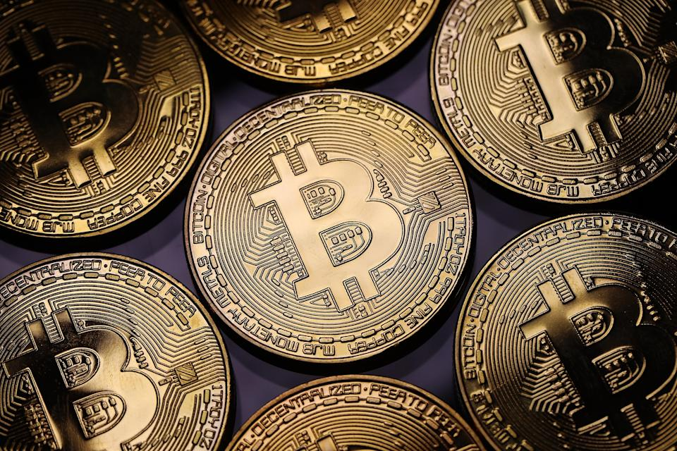 At risk: A visual representation of the digital Cryptocurrency, Bitcoin. Photo: Dan Kitwood/Getty Images