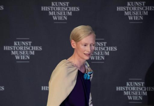 British actress Tilda Swinton was among the celebrities attending the opening of the exhibition