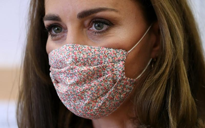The Duchess was pictured in a face mask for the first time - Chris Jackson/Getty