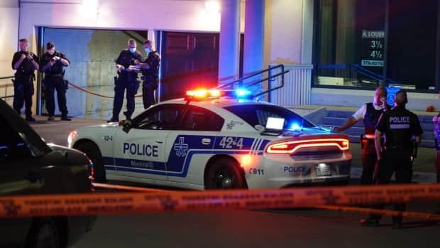 Tuesday's fatal shooting in Montreal's Saint-Leonard borough marked the 18th homicide of the year on the SPVM's territory. (Mathieu Wagner/Radio-Canada - image credit)