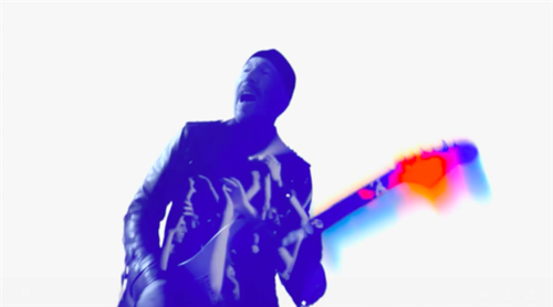 The Edge, in Apple's commercial