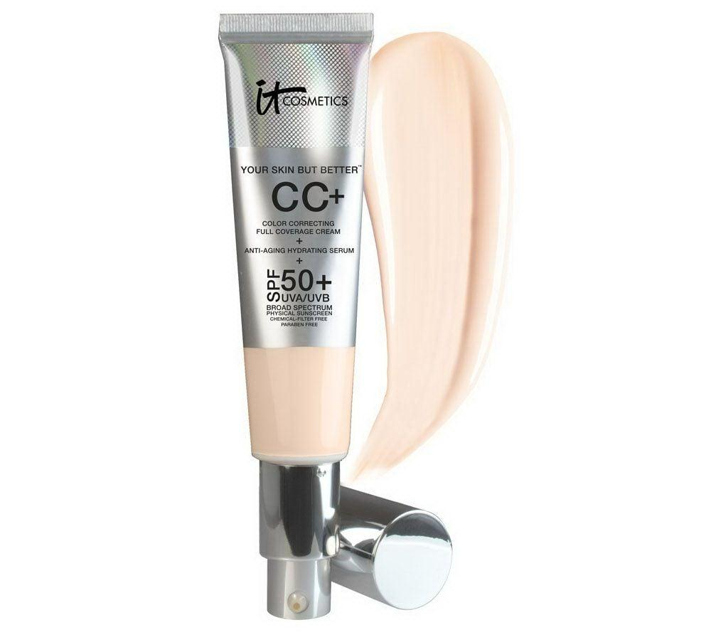 "<p>This <a href=""https://www.popsugar.com/buy/Cosmetics-CC-Cream-SPF-50-491267?p_name=It%20Cosmetics%20CC%2B%20Cream%20With%20SPF%2050%2B&retailer=sephora.com&pid=491267&price=39&evar1=bella%3Aus&evar9=46625189&evar98=https%3A%2F%2Fwww.popsugar.com%2Fbeauty%2Fphoto-gallery%2F46625189%2Fimage%2F46625233%2FIt-Cosmetics-CC-Cream-With-SPF-50&list1=shopping%2Cmakeup%2Cfoundation%2Csephora%2Cfall%20beauty&prop13=mobile&pdata=1"" rel=""nofollow"" data-shoppable-link=""1"" target=""_blank"" class=""ga-track"" data-ga-category=""Related"" data-ga-label=""https://www.sephora.com/product/your-skin-but-better-cc-cream-spf-50-P411885?icid2=products%20grid:p411885&amp;skuId=2130920"" data-ga-action=""In-Line Links"">It Cosmetics CC+ Cream With SPF 50+</a> ($39) isn't quite foundation, but isn't quite tinted moisturizer. It's makeup with skincare benefits that's perfect if you want your skin to breathe but still prefer more coverage.</p>"