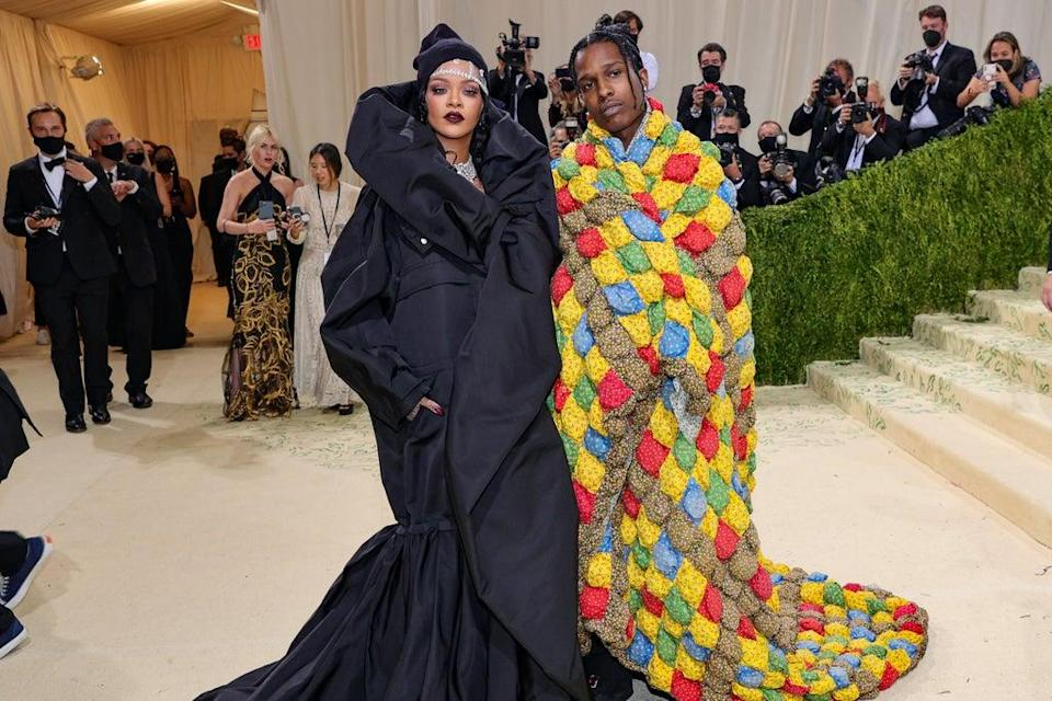 Statement dressing:  Rihanna, in Balenciaga, with ASAP Rocky (Getty Images)