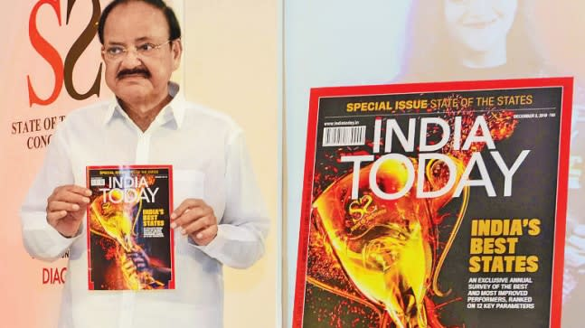 Loan waivers   free power are short-term solutions said Vice-President Venkaiah Naidu in the presence of 4 CMs at the India Today States Conclave.