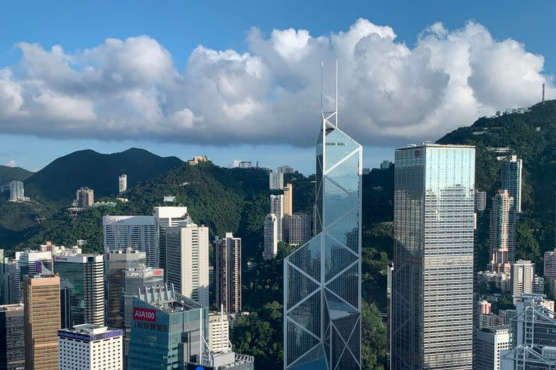 A general view of the financial Central district in Hong Kong