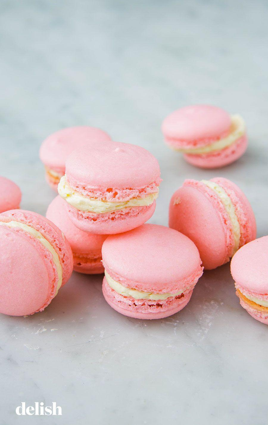 """<p>These little guys are actually super easy to make—and so delicious to eat.</p><p>Get the recipe from <a href=""""https://www.delish.com/cooking/recipe-ideas/a25324082/how-to-make-macarons/"""" rel=""""nofollow noopener"""" target=""""_blank"""" data-ylk=""""slk:Delish"""" class=""""link rapid-noclick-resp"""">Delish</a>.</p>"""