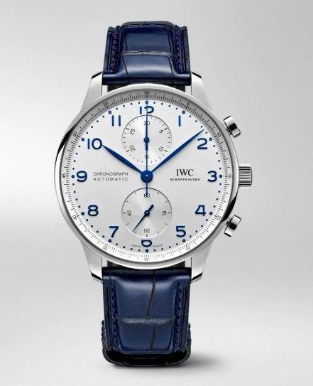 """<p>Portugieser Chronograph<br></p><p><a class=""""link rapid-noclick-resp"""" href=""""https://www.iwc.com/gb/en/home.html"""" rel=""""nofollow noopener"""" target=""""_blank"""" data-ylk=""""slk:SHOP"""">SHOP</a></p><p>One of the nicest-looking chronographs and arguably the classic IWC dress watch now comes with a self-winding in-house movement that significantly lowers its entry price (at least in the steel version). Available with a silver, black or blue dial in steel, or silver and black dial in 18k red gold. The absence of a date keeps it classy.</p><p>£7,050 (steel); £15,500 (gold); <a href=""""https://www.iwc.com/gb"""" rel=""""nofollow noopener"""" target=""""_blank"""" data-ylk=""""slk:iwc.com"""" class=""""link rapid-noclick-resp"""">iwc.com</a></p>"""