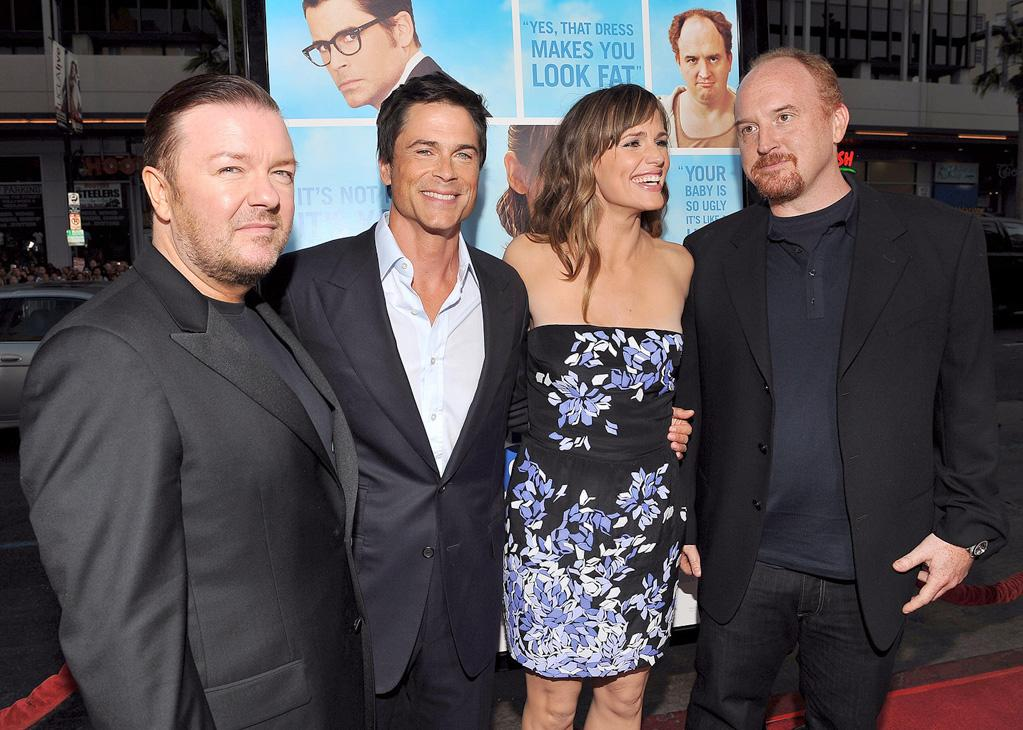 "<a href=""http://movies.yahoo.com/movie/contributor/1808438269"">Ricky Gervais</a>, <a href=""http://movies.yahoo.com/movie/contributor/1800012194"">Rob Lowe</a>, <a href=""http://movies.yahoo.com/movie/contributor/1800338890"">Jennifer Garner</a> and <a href=""http://movies.yahoo.com/movie/contributor/1804383508"">Louis C.K.</a> at the Los Angeles premiere of <a href=""http://movies.yahoo.com/movie/1810022054/info"">The Invention of Lying</a> - 09/21/2009"