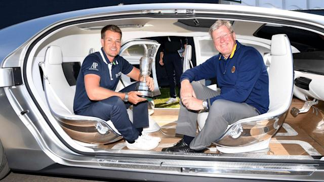 Henrik Stenson arrived at Royal Birkdale in a rather interesting vehicle and Jon Rahm got to grips with the bunkers near some lengthy rough.