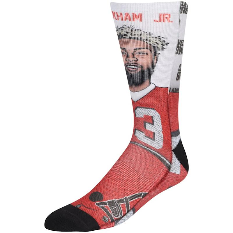 Odell Beckham Jr Cleveland Browns Champs Crew Socks