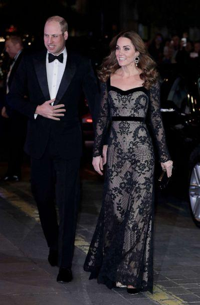 PHOTO: Prince William, Duke of Cambridge and Catherine, Duchess of Cambridge attend the Royal Variety Performance at the Palladium Theatre, Nov. 18, 2019, in London. (John Phillips/Getty Images)