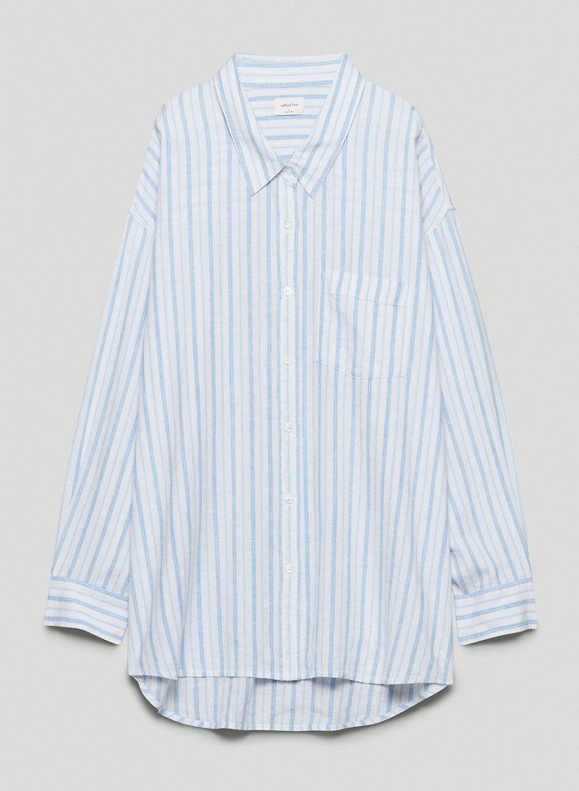 """<p><strong>Aritzia</strong></p><p>aritzia.com</p><p><strong>$88.00</strong></p><p><a href=""""https://www.aritzia.com/us/en/product/della-button-up/81528.html"""" rel=""""nofollow noopener"""" target=""""_blank"""" data-ylk=""""slk:Shop Now"""" class=""""link rapid-noclick-resp"""">Shop Now</a></p><p>Wear it to work, wear it to the beach, just try not to keep wearing it, we dare you.</p>"""