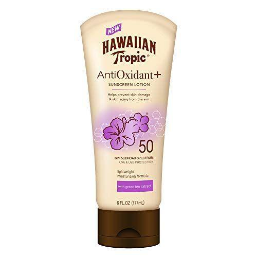 """<p><strong>Hawaiian Tropic</strong></p><p>amazon.com</p><p><strong>$9.94</strong></p><p><a href=""""https://www.amazon.com/dp/B076QC7VWM?tag=syn-yahoo-20&ascsubtag=%5Bartid%7C10055.g.35000690%5Bsrc%7Cyahoo-us"""" rel=""""nofollow noopener"""" target=""""_blank"""" data-ylk=""""slk:Shop Now"""" class=""""link rapid-noclick-resp"""">Shop Now</a></p><p>It's just under $10, but this sunscreen won our 2020 <a href=""""https://www.goodhousekeeping.com/beauty/anti-aging/g1288/best-sunscreens/"""" rel=""""nofollow noopener"""" target=""""_blank"""" data-ylk=""""slk:body SPF"""" class=""""link rapid-noclick-resp"""">body SPF</a> test with flying colors. """"It was<strong> the best at leaving skin moisturized, absorbing, rinsing off, and not being tacky or greasy</strong>,"""" says Wizemann. It also received the highest consumer satisfaction score and performed on top for not irritating the skin. Plus, you don't have to worry about the product leaving white residue or staining your clothes.</p>"""