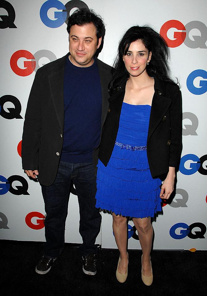 "Meanwhile, Jimmy Kimmel and Sarah Silverman appear to be back together following their summer split. When quizzed about the status of their relationship at Tuesday's GQ Man of the Year Awards, Sarah said things were ""zesty."" Steve Granitz/<a href=""http://www.wireimage.com"" target=""new"">WireImage.com</a> - November 18, 2008"