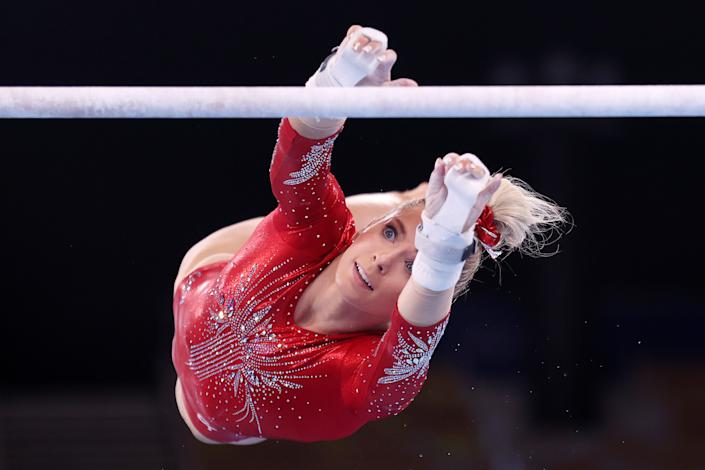 <p>She is the oldest member of Team USA, 3 months older than Simone Biles.</p>