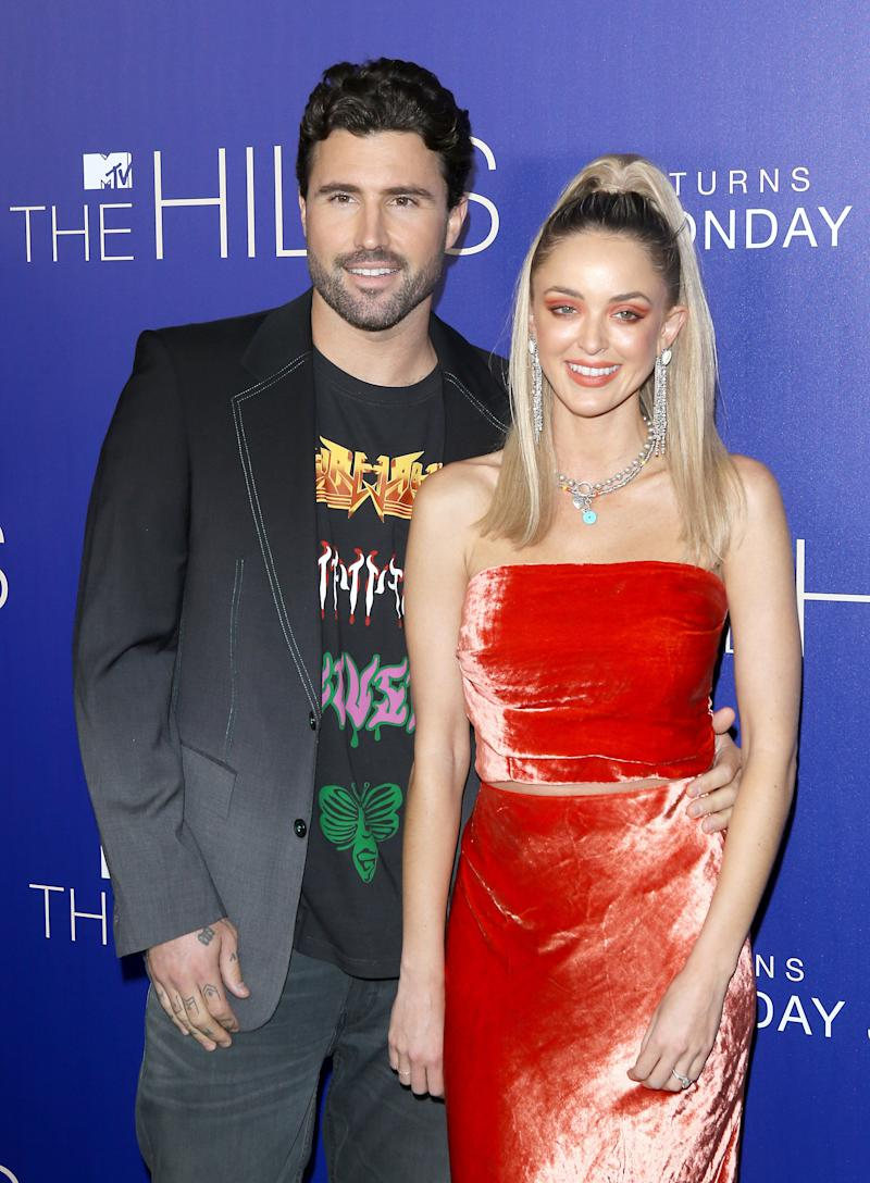 """Kaitlynn Carter Jenner and Brody Jenner attend the Los Angeles premiere of MTV's """"The Hills: New Beginnings"""" in June. (Photo: Michael Tran via Getty Images)"""