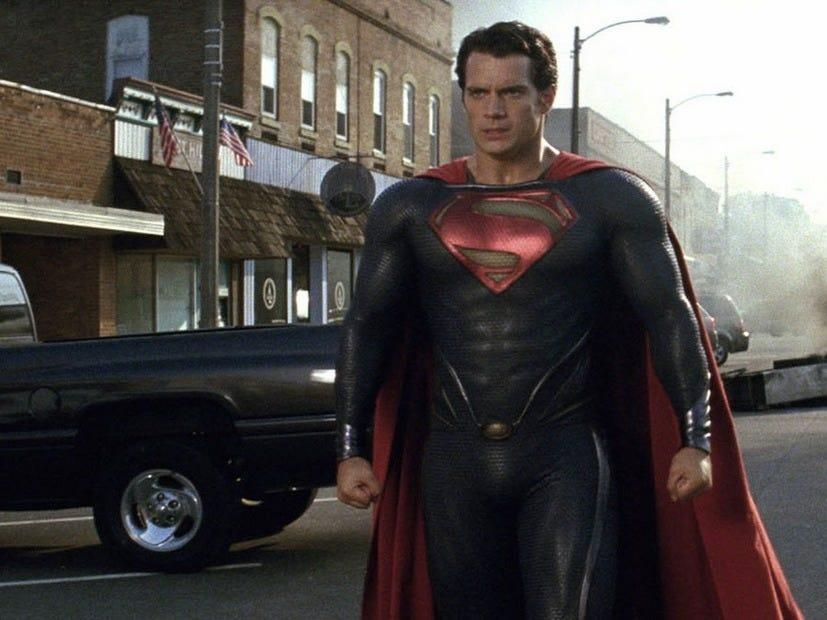 """Henry Cavill suited up as Superman after """"The Dark Knight"""" trilogy came to a close."""