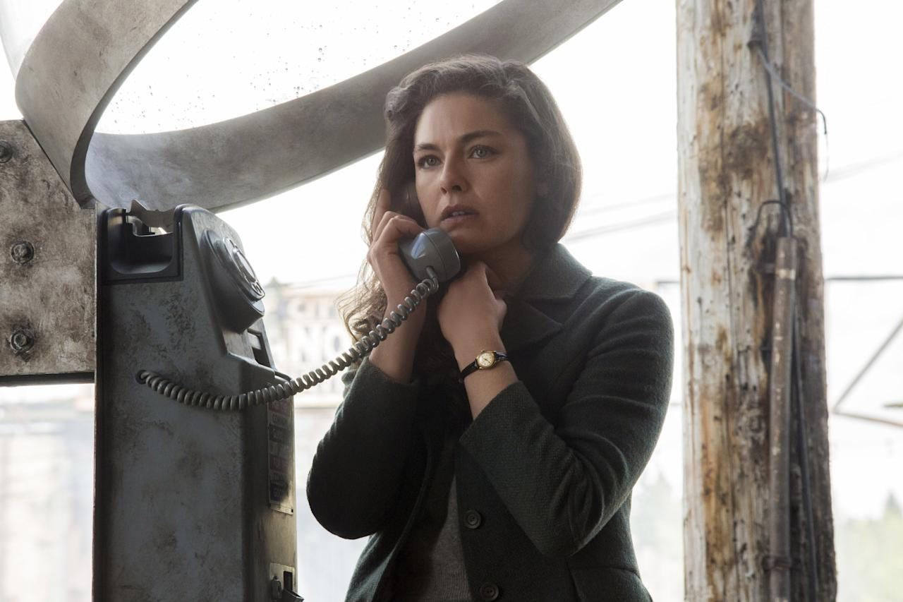 """<em>The Man in the High Castle,</em> based on the Philip K. Dick book, imagines a world in which the United States lost WWII. The eastern part of the country is under Nazi control, while the Japanese rule in the west. Yes, it's as intense as it sounds. <em>Available to watch on</em> <a href=""""https://www.amazon.com/gp/video/detail/B07HWYVFNH"""" rel=""""nofollow"""" target=""""_blank""""><em>Amazon Prime Video</em></a>"""