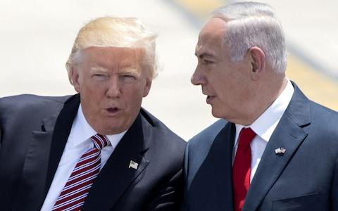 US President Donald Trump with Israeli Prime Minister Benjamin Netanyahu - Credit: JACK GUEZ/AFP/Getty Images