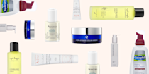 """<p class=""""body-dropcap"""">Dealing with constant facial redness, <a href=""""https://www.cosmopolitan.com/how-to-get-rid-of-acne/"""" rel=""""nofollow noopener"""" target=""""_blank"""" data-ylk=""""slk:acne-like bumps"""" class=""""link rapid-noclick-resp"""">acne-like bumps</a>, or broken blood vessels? Is your skin suuuuper sensitive and easily irritated? Are you lowkey always annoyed with how temperamental it seems to be? Yeah, chances are, you're dealing with rosacea—<strong>a super-common skin condition that can affect just about anyone (although it's most common in women with fairer skin tones)</strong>. Rosacea is also unpredictable: It can flare for a few days, weeks, or even months, and then disappear, only to come back very randomly. And while there is no """"cure"""" for rosacea, there <em>are </em>some in-office treatments and at-home <a href=""""https://www.cosmopolitan.com/style-beauty/beauty/a25372431/what-order-to-apply-skincare-products/"""" rel=""""nofollow noopener"""" target=""""_blank"""" data-ylk=""""slk:skincare products"""" class=""""link rapid-noclick-resp"""">skincare products</a> you can use to help keep it in check. </p><h2 class=""""body-h2"""">What are the main causes of rosacea?</h2><p>Rosacea can be genetic (so if your mom or dad has it, there's a good chance you will too), but it's usually made worse by triggers like <strong>s</strong><strong>unlight, wind, alcohol, hot or spicy foods, exercise, and medications that dilate your blood vessels </strong>(though, FWIW, rosacea triggers can differ from person to person). It may sound like a no-brainer, but the first step in treating your rosacea is figuring out exactly what your triggers are and then avoiding them when you can. And that, yup, starts with a dermatologist. </p><p>Sorry, but Dr. Google doesn't cut it, and before you know how to treat your rosacea, you've gotta make sure you're actually <em>dealing </em>with rosacea, and not one of the zillion other potential red/bumpy skin conditions out there. Can't make it to a derm in person? Don't worry—<a hre"""