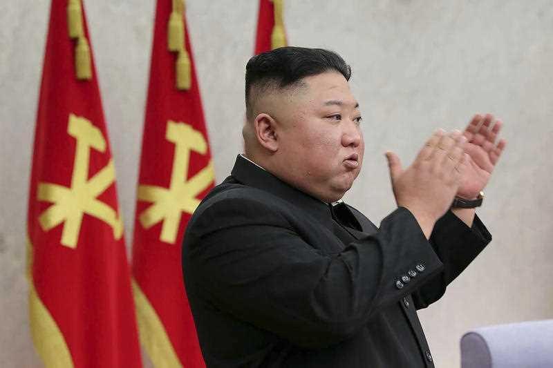 In this photo provided by the North Korean government, North Korean leader Kim Jong Un attends at a meeting of Central Committee of Worker's Party of Korea in Pyongyang.