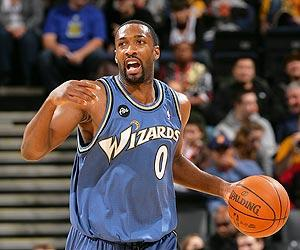 Gilbert Arenas was suspended for the final 50 games of last season after bringing guns into the Wizards' locker room
