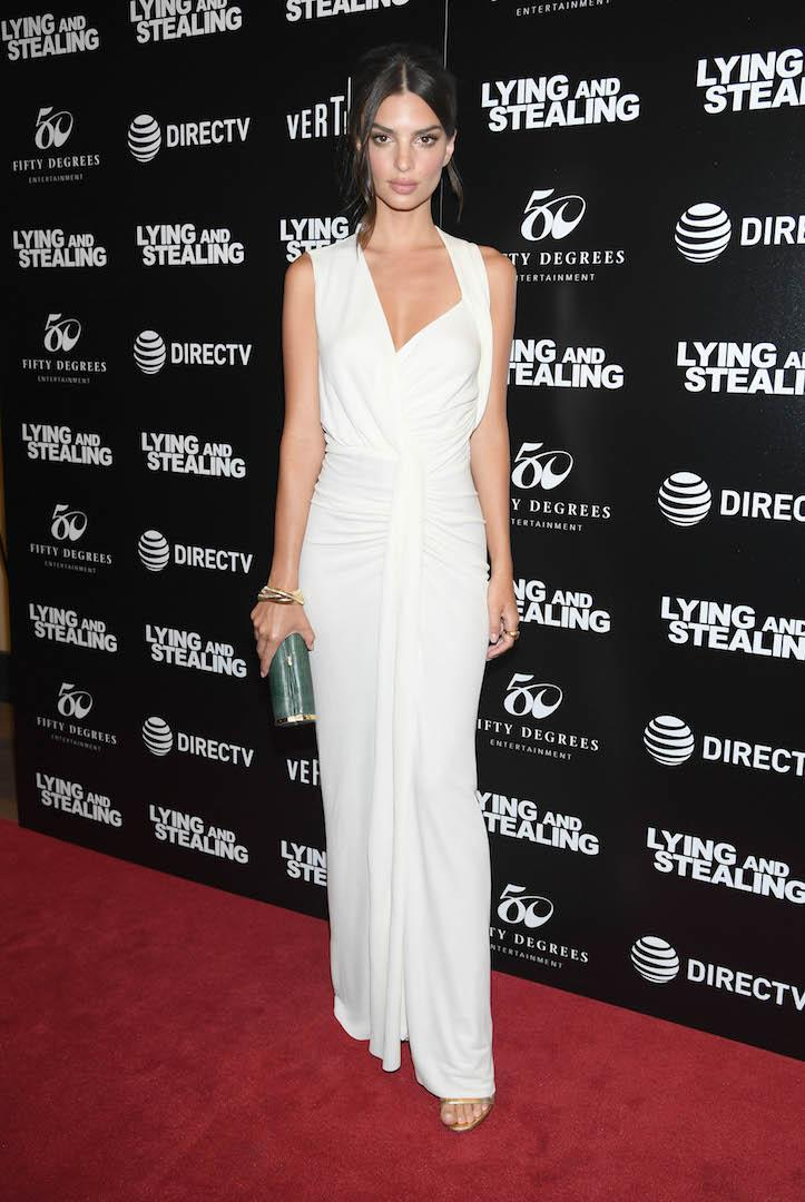 On June 17, the model opted for a minimal white gown by Narciso Rodriguez for the New York premiere. <em>[Photo: Getty]</em>