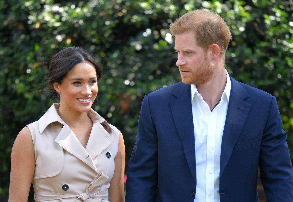 Harry and Meghan in Johannesburg last month. (Dominic Lipinski/Pool via AP, File)