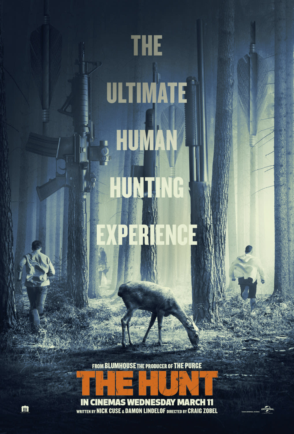 Poster for Blumhouse horror movie 'The Hunt'. (Credit: Universal)