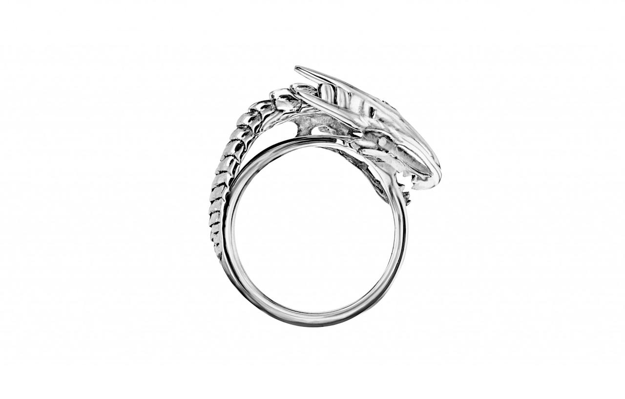"<p><a rel=""nofollow"" href=""https://www.mey.london/shop/game-of-thrones/dragon-storm-single-dragon-ring/"">Mey, £170</a> </p>"