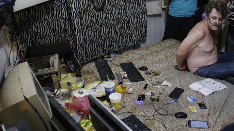 The 53-year-old was arrested at his Philippines home last month in what was potentially the largest ever seizure of illicit digital content in the country. Source: AP