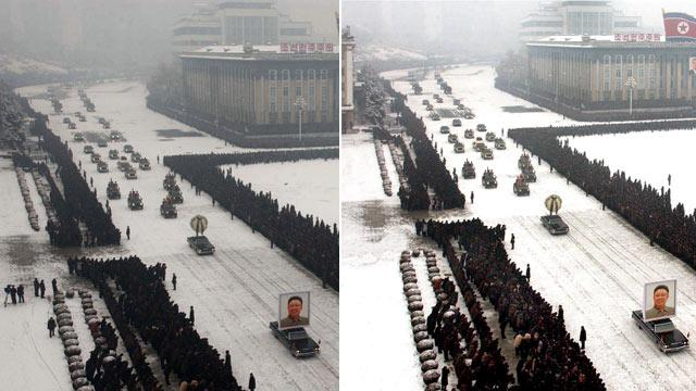 North Korea Restores Order to Kim Funeral With Photoshop