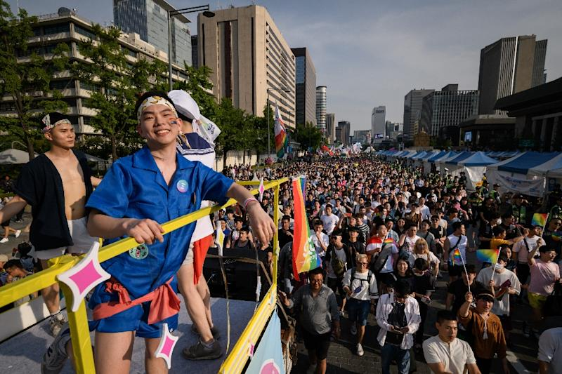 Homosexuality is not illegal in South Korea but there is currently no legislation outlawing discrimination (AFP Photo/Ed JONES)