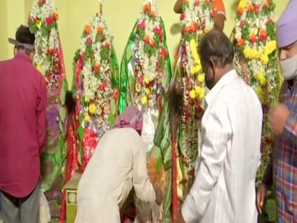 A Hindu family installed Tazia at their residence to observe Muharram. (Photo: ANI)