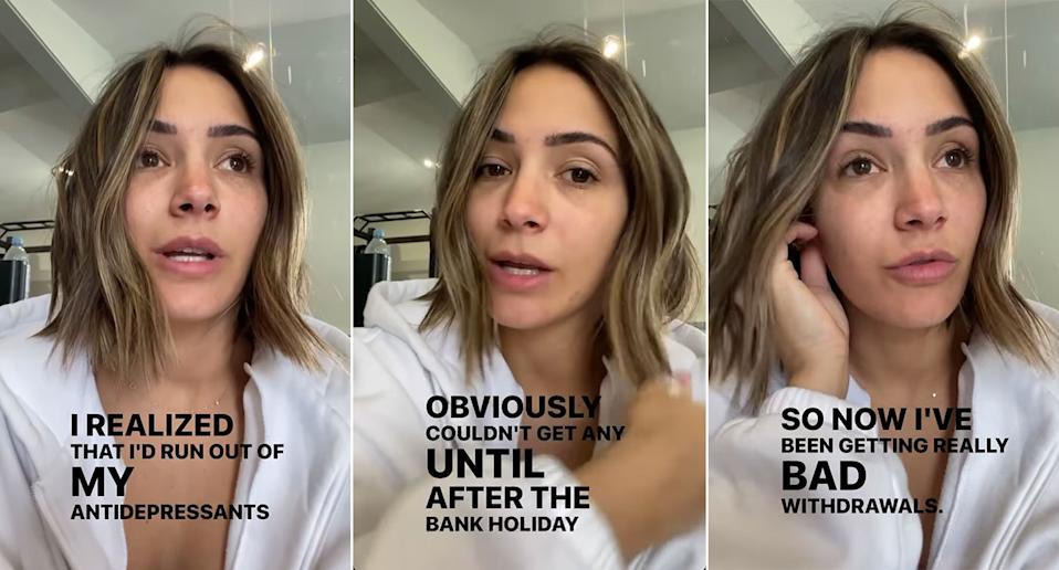 Frankie Bridge shared her medication issues on her Instagram stories (Instagram)