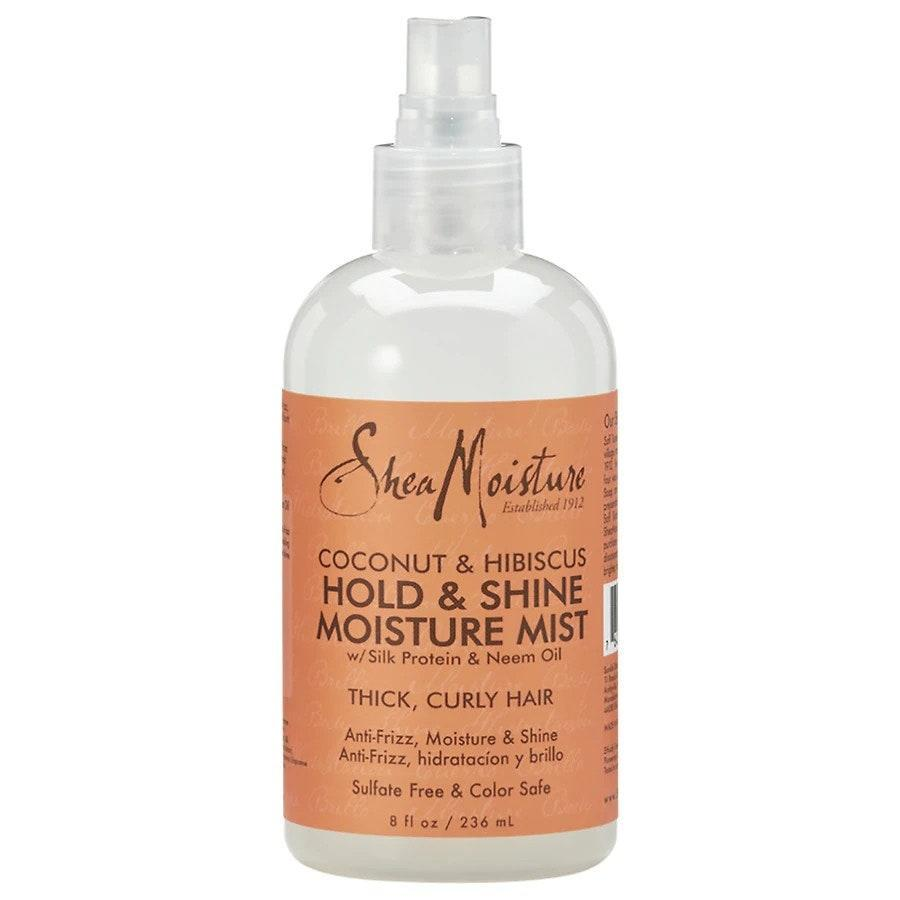 A few spritzes of the SheaMoisture Coconut and Hibiscus Hold and Shine Moisture Mist will give your hair an instant shine boost (and tropical scent). Aloe juice, coconut oil, and silk protein team up to help you achieve nourished, controlled curls without dullness or rogue hairs in sight.