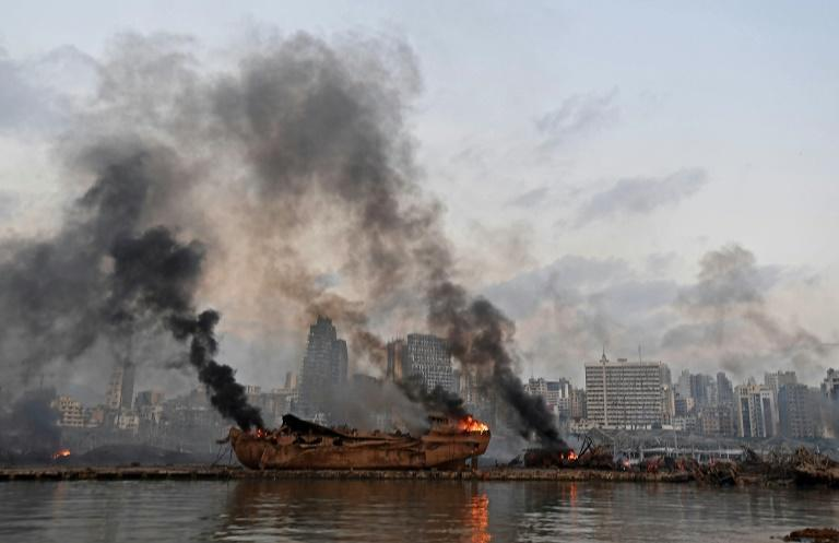 The apocalyptic scene at Beirut port on August 4, 2020