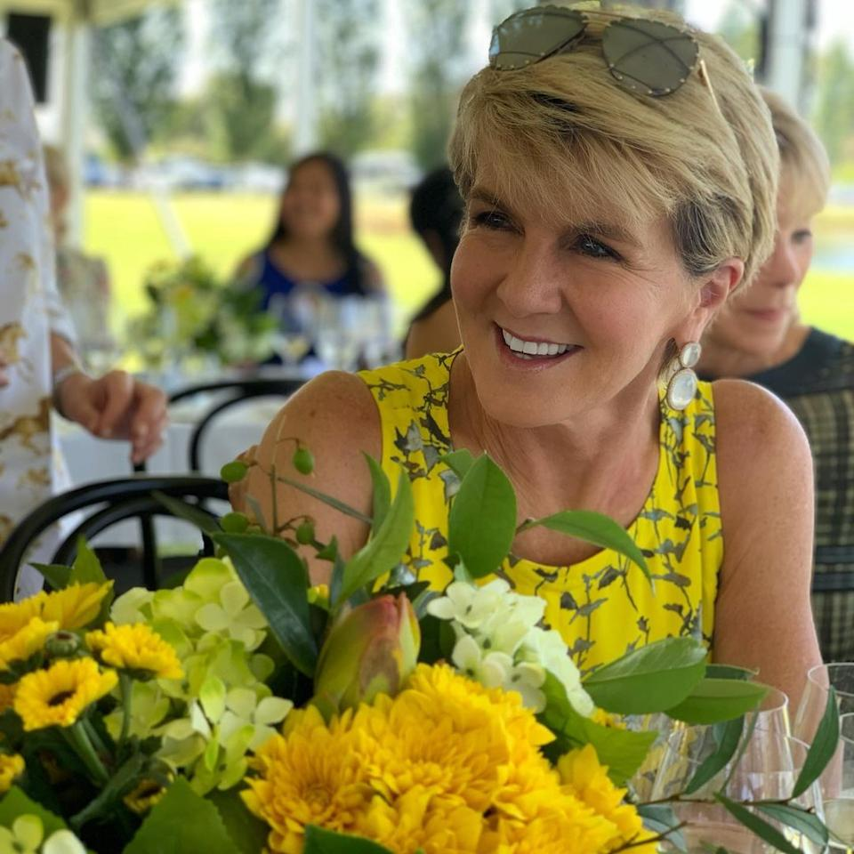 Fans are used to the 64-year-old's shorter 'do. Photo: Instagram/Julie Bishop